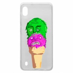 Чехол для Samsung A10 Ice cream with face