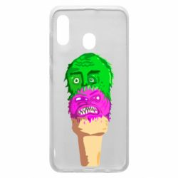 Чехол для Samsung A20 Ice cream with face