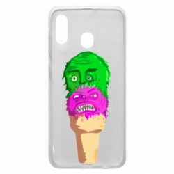 Чехол для Samsung A30 Ice cream with face