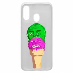 Чехол для Samsung A40 Ice cream with face