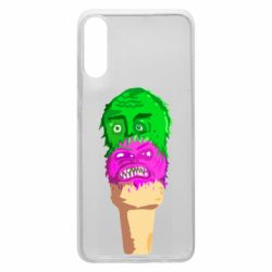 Чехол для Samsung A70 Ice cream with face