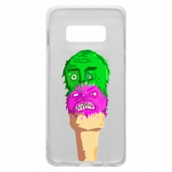 Чехол для Samsung S10e Ice cream with face
