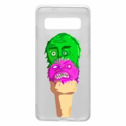 Чехол для Samsung S10 Ice cream with face