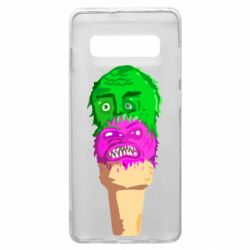 Чехол для Samsung S10+ Ice cream with face