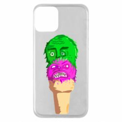 Чехол для iPhone 11 Ice cream with face