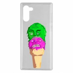 Чехол для Samsung Note 10 Ice cream with face