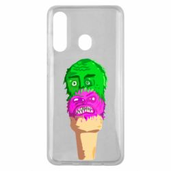 Чехол для Samsung M40 Ice cream with face