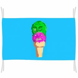Флаг Ice cream with face