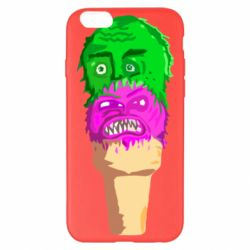 Чехол для iPhone 6 Plus/6S Plus Ice cream with face