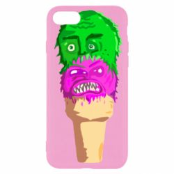 Чехол для iPhone 7 Ice cream with face