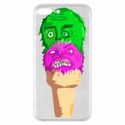 Чехол для iPhone 7 Plus Ice cream with face