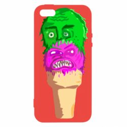 Чехол для iPhone5/5S/SE Ice cream with face