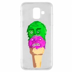 Чехол для Samsung A6 2018 Ice cream with face