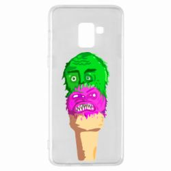 Чехол для Samsung A8+ 2018 Ice cream with face