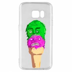 Чехол для Samsung S7 Ice cream with face