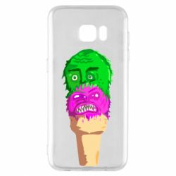 Чехол для Samsung S7 EDGE Ice cream with face