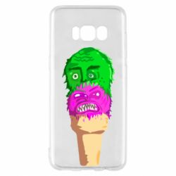 Чехол для Samsung S8 Ice cream with face