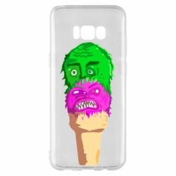 Чехол для Samsung S8+ Ice cream with face