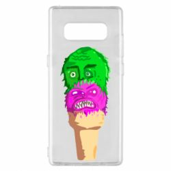 Чехол для Samsung Note 8 Ice cream with face