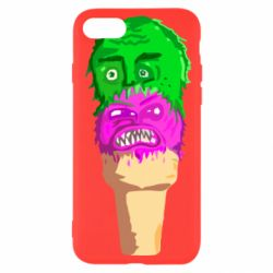 Чехол для iPhone 8 Ice cream with face