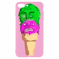 Чехол для iPhone 8 Plus Ice cream with face
