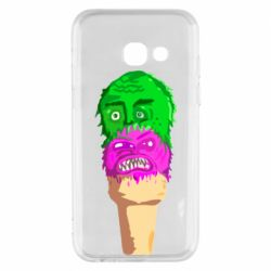 Чехол для Samsung A3 2017 Ice cream with face