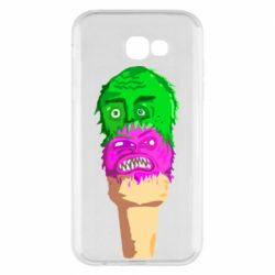 Чехол для Samsung A7 2017 Ice cream with face