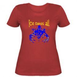 Женская футболка Ice takes all Dota - FatLine