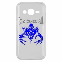 Чехол для Samsung J2 2015 Ice takes all Dota