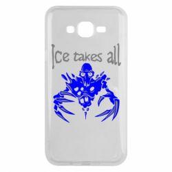 Чехол для Samsung J7 2015 Ice takes all Dota