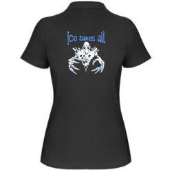Женская футболка поло Ice takes all Dota - FatLine