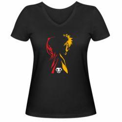 Женская футболка с V-образным вырезом Ichigo and Rukia