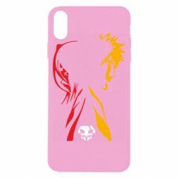 Чехол для iPhone X/Xs Ichigo and Rukia