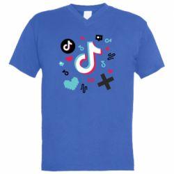 Чоловіча футболка з V-подібним вирізом Icons TIK TOK