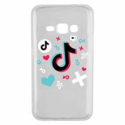 Чохол для Samsung J1 2016 Icons TIK TOK