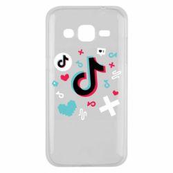 Чохол для Samsung J2 2015 Icons TIK TOK