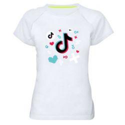 Жіноча спортивна футболка Icons TIK TOK
