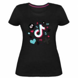 Жіноча стрейчева футболка Icons TIK TOK