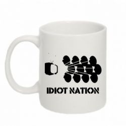 Кружка 320ml Idiot Nation - FatLine