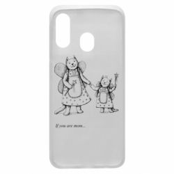 Чехол для Samsung A40 If you are mom text