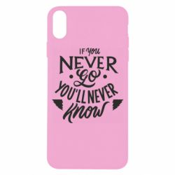 Чохол для iPhone X/Xs If you never go you'll never know