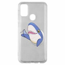 Чехол для Samsung M30s Ikea Shark Blahaj