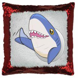 Подушка-хамелеон Ikea Shark Blahaj