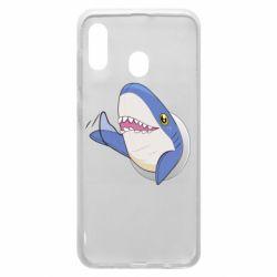 Чехол для Samsung A20 Ikea Shark Blahaj