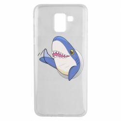 Чехол для Samsung J6 Ikea Shark Blahaj
