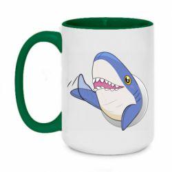 Кружка двухцветная 420ml Ikea Shark Blahaj