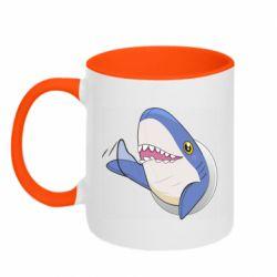 Кружка двухцветная 320ml Ikea Shark Blahaj