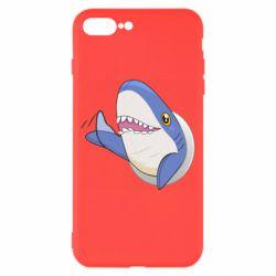 Чехол для iPhone 8 Plus Ikea Shark Blahaj