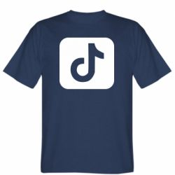 Мужская футболка Иконка тик ток