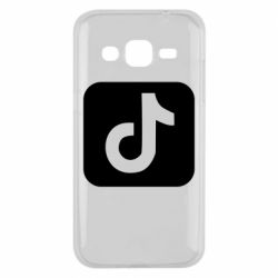Чехол для Samsung J2 2015 Иконка тик ток